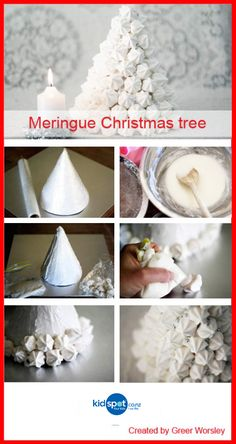Do you want a simple Christmas recipe? This Christmas dessert idea is sweet and simple € … - Christmas Desserts Christmas Tree Food, Christmas Food Treats, Its Christmas Eve, Christmas Sweets, Christmas Goodies, Simple Christmas, Cake Pops, Meringue Cookie Recipe, Cake Decorating Techniques