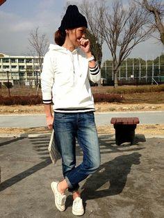 yukoさんのパーカー「UNIQLO 着てるバージョン♡」を使ったコーディネート
