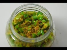 QUICK CHILLI PICKLE Ingredients green chillies 4 tbsps oil ½ tsp asafoetida 2 tbsps ginger-garlic paste Salt to taste ½ tsp turmeric powder 1 tbsp crus. Chilli Pickle Recipe, Green Chilli Pickle, Chilli Recipes, Chutney Recipes, Indian Food Recipes, Food Dishes, Food Food, Side Dishes, Cook Smarts