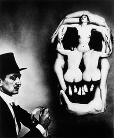 Dali Skull, photography by Philippe Halsman (1951)