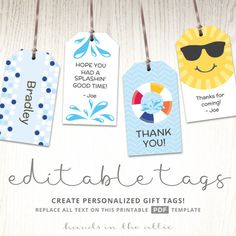 Tags For Bumble Bee Party Favors  Printable Gift Tags