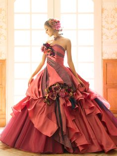 Love the colours Elegant Dresses, Pretty Dresses, Ball Dresses, Ball Gowns, Fairytale Dress, Fantasy Dress, Looks Style, Beautiful Gowns, Dream Dress