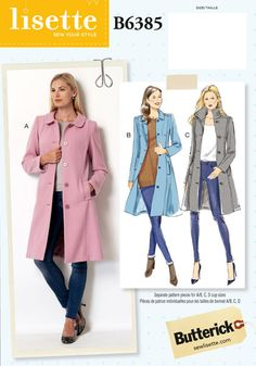 Lisette For Butterick B6385 Sewing Pattern | Shop | Oliver + S