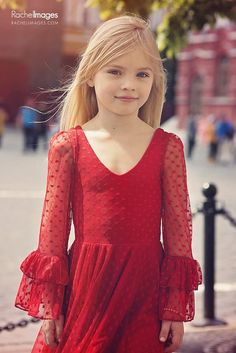 Girls Red Lace Christmas Party Dress, Twirly Holiday Dress, Valentine's Day Dress Little Girl Models, Cute Little Girl Dresses, Cute Young Girl, Beautiful Little Girls, Cute Dresses, Cute Girls, Girls Dresses, Tween Party Dresses, Child Models
