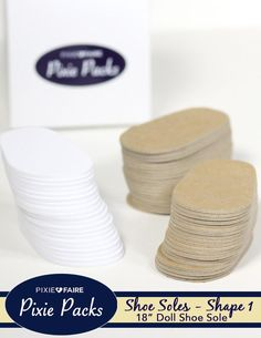 Pixie Packs SHAPE 1 Pre-cut Shoe Soles 2mm White Foam and Chipboard