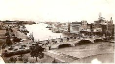 Another beautiful shot of Jones Bridge, from the top of the Manila Central Post Office Building. Philippines Fashion, Philippines Culture, Best Location, Pinoy, Manila, Old Photos, Paris Skyline, Bridge, History