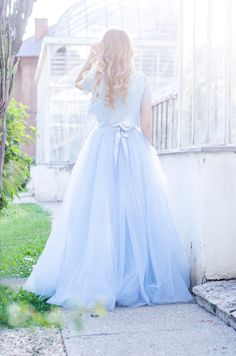 Making my dreams come true - Pink Wish Blue Tulle Skirt, My Dream Came True, Princess Wedding Dresses, Flower Girl Dresses, Lace, Skirts, Pink, Top, Outfits