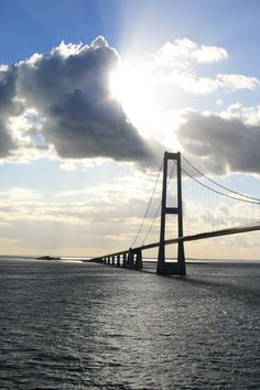 Storebelt Bridge between Denmark and Sweden. Passing under on a boat on my way home to Norway.