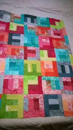 Colors of Cancer Relay Quilt