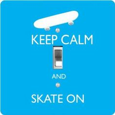 "Rikki KnightTM Keep Calm and Skate On - Sky Blue Color - Single Toggle Light Switch Cover by Rikki Knight. $13.99. The Keep Calm and Skate On - Sky Blue Color single toggle light switch cover is made of commercial vibrant quality masonite Hardboard that is cut into 5"" Square with 1'8"" thick material. The Beautiful Art Photo Reproduction is printed directly into the switch plate and not decoupaged which make these Light Switch Plates suitable for use in any room in..."