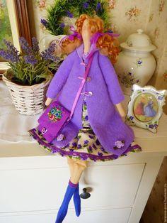Купить Тильда Фиалка - фиолетовый, фиалковый, сиреневый цвет, тильда кукла…