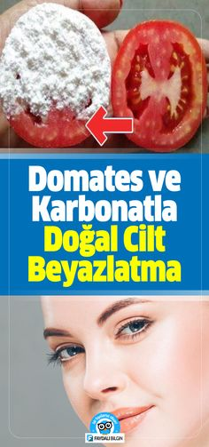 Domates ve Karbonatla Doğal Cilt Beyazlatma Kürü Natural Skin Whitening Treatment with Tomatoes and Carbonate # Skincare # ciltgüzellik # Female # Maintenance Homemade Face Masks, Homemade Skin Care, Tomato Mask, Face Lightening, Baking Soda Mask, Natural Skin Whitening, Teeth Whitening, Skin Care Masks, Piel Natural