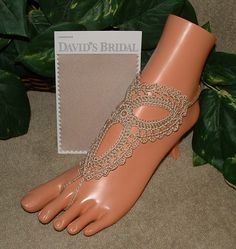Wedding Barefoot Sandals Champagne Jewelry by gilmoreproducts33, $14.00