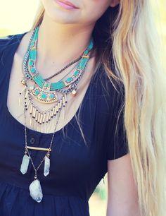 Tribal jewelry.