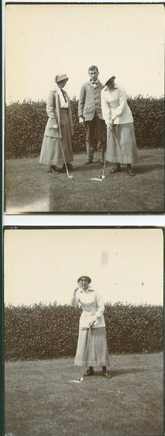 Golf time. Late 1910s.