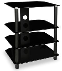 Media Component Shelf AV Stand Glass Shelves TV Box Gaming Console Audio System #DoesNotApply