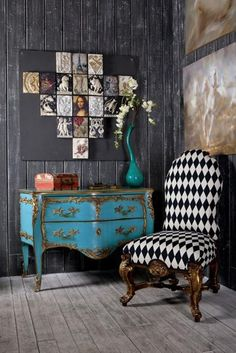 Modern wall decorating ideas can surprise, bringing vintage style into rooms in a fresh and unexpected way