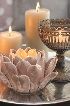 Beautiful Lotus Candle Holders