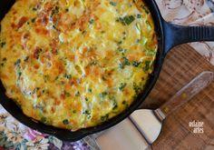 Omelete de Abobrinha e Queijo