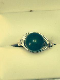 Green Aventurine wrap ring