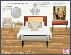 Hastens Proferia style mix scandinavian glam look book | The Decorating Diva, LLC
