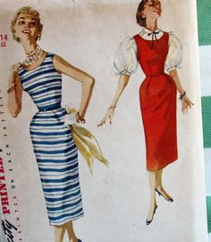 Vintage 1950s Sewing Pattern Simplicity 1085 by Old2NewMemories