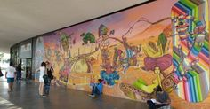 Grafites de artistas internacionalmente conhecidos podem ser vistos no parque Ibirapuera, zona sul de São Paulo. A fachada do prédio do MAM (Museu de Arte Moderna de São Paulo) tem um mural da dupla de irmãos grafiteiros Otávio e Gustavo Pandolfo, mais conhecidos como Osgemeos
