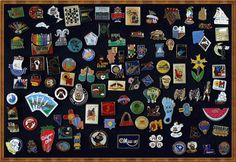 Pins from all over the world.