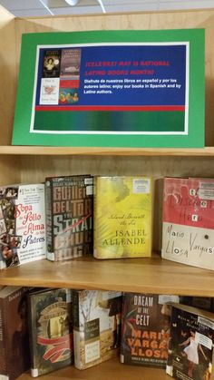 Celebre!  May is National Latino Books Month!  I  Book Display  I  Calvert Library Southern Branch  I  May 2016
