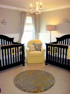 Adorable Nursery Decor: Love the neutral color scheme for this nursery.