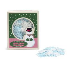 Cake Decorating Sprinkles - 14g Blue & White Snowmen Wafers