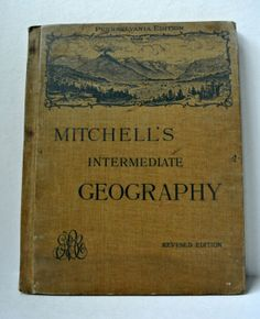 Mitchell's Intermediate Geography Antique by WallflowerAntiques, $75.00