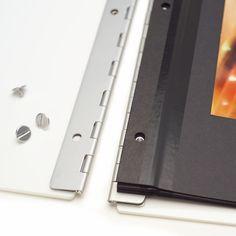 """Vista 17""""x11"""" Acrylic Screwpost Portfolio Case  - Snow (White)"""