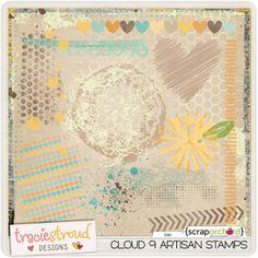 Digital Scrapbook Stamp - Cloud 9 Artisan Stamps   Tracie Stroud