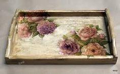 decoupage taca - Szukaj w Google Wallpaper Nature Flowers, Bead Embroidery Tutorial, Decoupage Wood, Mod Podge Crafts, Epoxy Resin Art, Painted Trays, Shabby Chic Crafts, Vintage Postcards, Painting On Wood