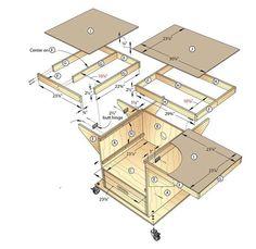 Table Saws Quick-Convert Tablesaw/Router Station ile ilgili görsel sonucu - Workshop Storage, Workshop Organization, Diy Workshop, Tool Storage, Table Saw Workbench, Workbench Plans, Woodworking Garage, Woodworking Projects, Diy Table Saw
