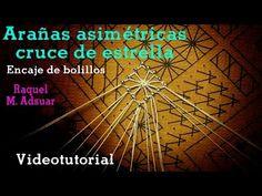 Arañas Asimétricas. Encaje de Bolillos - YouTube