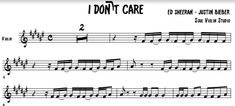I Don't Care - Ed Sheeran - Justin Bieber/ music sheet - soul violin studio Ed Sheeran Justin Bieber, Justin Bieber Music, 5sos Lyrics, One Direction Lyrics, Taylor Swift Hair, Taylor Swift Facts, Backing Tracks, Red Tour, Jesy Nelson