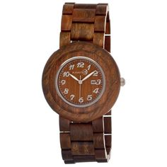 Earth Cambium Olive Dial Olive Wood Bracelet Unisex Watch ($99) ❤ liked on Polyvore featuring jewelry, watches, analog watches, wooden watches, wood watches, earth jewelry and water resistant watches