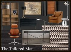 Today's FREE home office design plan is for the tailored man. The type of man who needs a refuge to think, study and work. Men's Home Offices, Masculine Home Offices, Feminine Home Offices, Masculine Office Decor, Masculine Living Rooms, Business Office Decor, Man Office, Office 2020, Office For Men