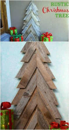 How to make a vintage style wood christmas tree star diy christmas 40 rustic christmas decor ideas you can build yourself solutioingenieria Choice Image