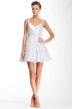 La Femme Sequin Rhinestone Waist Dress by La Femme on @HauteLook
