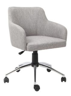 Dainty and elegant, this Duchess Office Chair is an ideal companion for those who work from home. Upholstered in stylish grey fabric, the unique and stylish design of this office chair will also add an element of character to your office. Fabric Boxes, Chair Fabric, Home Office Furniture, Online Furniture, Executive Office, Office Equipment, Grey Chair, My Room, Upholstery