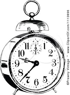 silhouette images vintage alarm clock - Bing Images, you will find several clock faces on this site, some in color, some cartoonish, look around