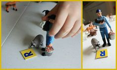 """Using small world figures to work on initial sounds - from Crayon Freckles ("""",) Alphabet Phonics, Initial Sounds, Abc Activities, Community Helpers, Dramatic Play, Preschool Kindergarten, Reggio, Freckles, Literacy"""