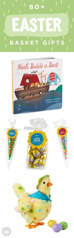 This Easter, look no further than Hallmark for a fun gift to put in your little one's Easter basket. Help your child grow in faith with a book on Noah's Ark, or surprise them with delicious chocolate eggs. With over 80 options, you are sure to find the perfect gift!