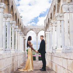 Flawless beauty of Olympic gold medalist Shaunae Miller Uido and her new husband Maicel Uido #love #wmbw #bwwm #swirl