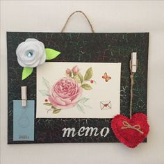 Craft Felt rose Handmade craft Memo board