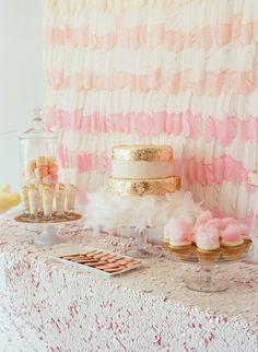 Boho dessert table: http://www.stylemepretty.com/2014/07/17/15-perfectly-girly-bridal-shower-details/
