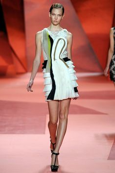 3.1 Phillip Lim Spring 2010 Ready-to-Wear Fashion Show - Karlie Kloss - Collage Dress
